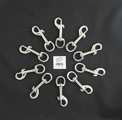 Trigger Clips Heavy Duty Pack of 10 Round Eye 12mm Snap Hook Clips 70mm Long