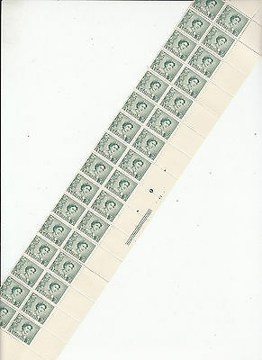 Stamps Australia 3d green QE2 coil perforation plate 3 right hand block 32 MUH