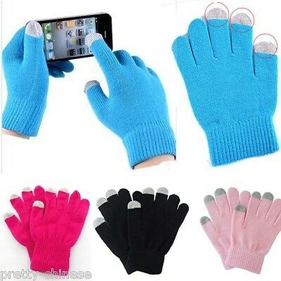 Fashion Men Women Touchscreen Gloves Soft Knit Warm For Smart Mobile Phone ipad