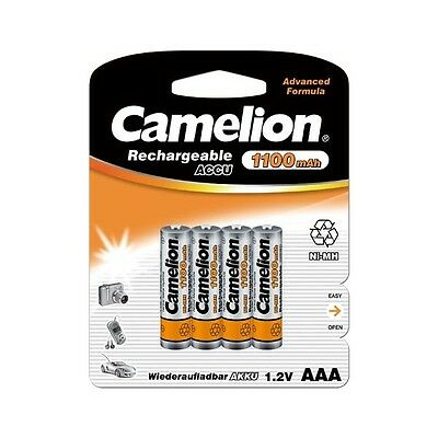 4 Accus Piles rechargeables AAA/LR3 1100mAh CAMELION