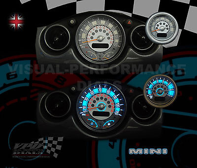 BMW mini / cooper 01> plasma glow speedo dash lighting interior upgrade dial kit