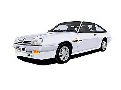 Opel Manta Gte Hatchback Car Art Print Picture (Size A4). Personalise It!