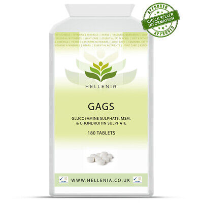 Hellenia Vets Choice GAGS 425mg for Dogs and Cats. Glucosamine, MSM, Chondroitin
