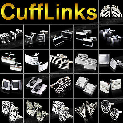 High Quality Mens Stainless Steel CUFF LINKS Rectangle Square Wedding Cufflinks