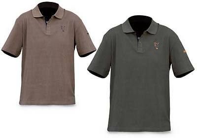 Fox NEW Branded Carp Fishing Green Polo Shirt *All Sizes*
