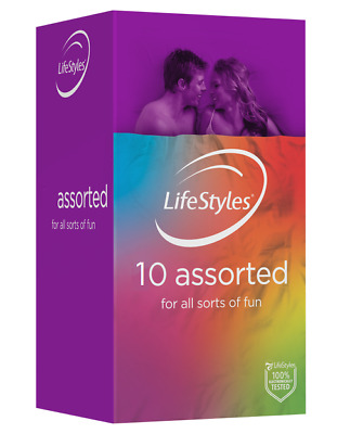 Ansell Lifestyles Assorted Colours Flavoured Textures Glow 12 Condoms Bulk Buy