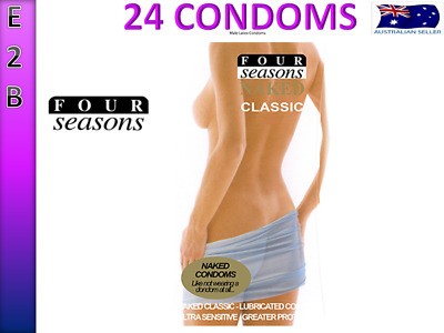 FOUR SEASONS NAKED CLASSIC 24 Condoms BULK BUY CONDOMS PACK