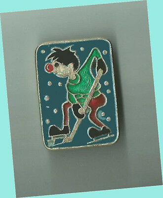 Russian Hockey Player Lapel Pin - HUMOROUS DESIGN