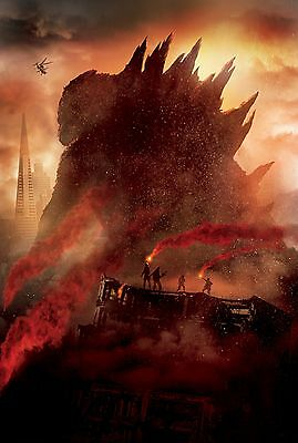 New Godzilla 2014 Official Textless Movie Film Wall Art Print Premium Poster
