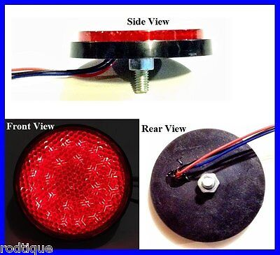 Flat Mount Round Red LED light for Tail,Turn and Brake Universal NRR