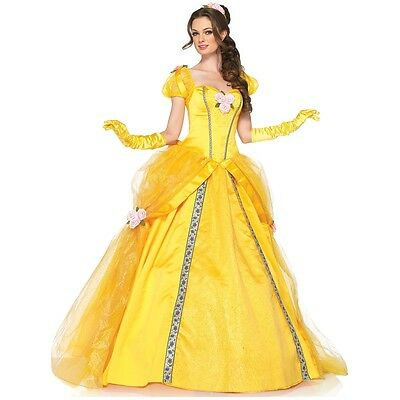 Belle Costume Adult Beauty and The Beast Disney Princess Halloween Fancy Dress