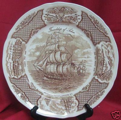ALFRED MEAKIN FAIRWINDS Brown SHIP DINNER PLATE (s)
