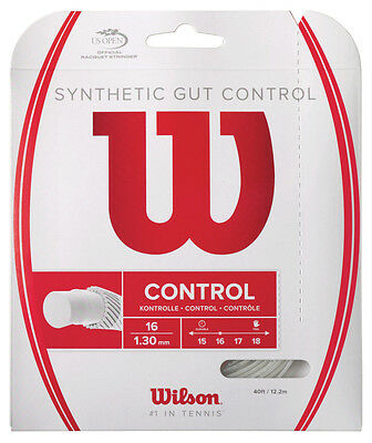 Wilson Synthetic Gut Control 1.30mm 16 Tennis Strings Set