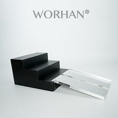 WORHAN®  91cm Mobility Scooter Wheelchair Ramp 3ft Folding Access Disabled R3
