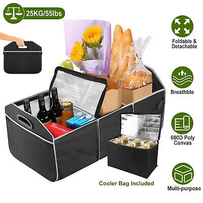 Car Van Truck Trunk Organizer Foldable Collapsible Storage Bag Multi Compartment