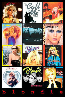 BLONDIE - ALBUM COVERS MUSIC POSTER - 24x36 SHRINK WRAPPED - DEBBIE HARRY 785