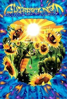 GRATEFUL DEAD - TERRAPIN & SUNFLOWER POSTER - 24x36 SHRINK WRAPPED TURTLE 30317