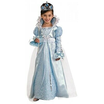 Blue Princess Costume Kids Fairy Tale Dressup Halloween Fancy Dress Up