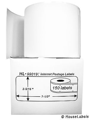 10 Rolls of 150 1-Part Ebay PayPal Postage Labels for DYMO® LabelWriters® 99019