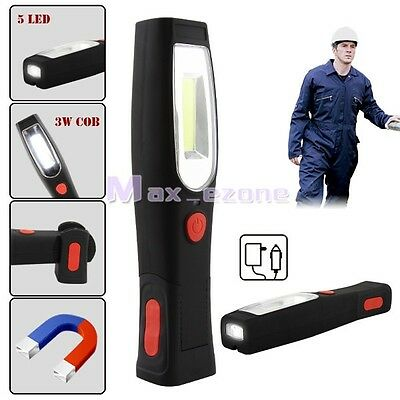 Ultra Bright 3W COB 5 LED Rechargeable Inspection Lamp Hand Torch Work light