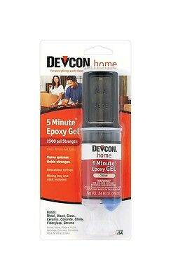 NEW! DEVCON 5 Minute Epoxy High Strength 2500 PSI S210 21045