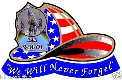 Erazor Bits Decal Reflective Fire Fighter We will Never Forget 9//11//2001