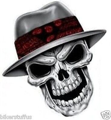 Gangster Skull Sticker Bumper Sticker Laptop Sticker Helmet Sticker Tool Box