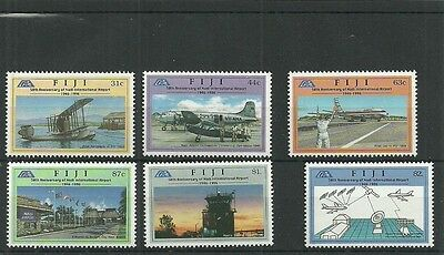 Fiji Sg965-970 50Th Anniv Of Nadi International Airport Set Mnh