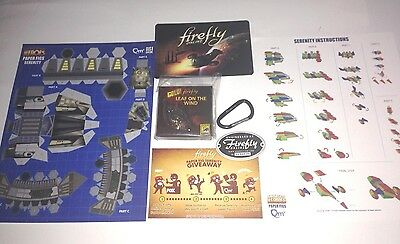 Sdcc 2014 Firefly Leaf On The Wind Gold Key-Chain Serenity Origami Ship Button