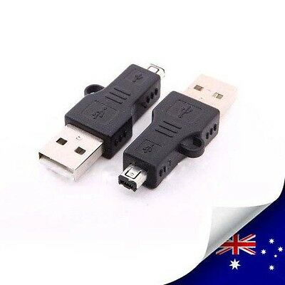 1 x USB A 2.0 MALE TO MINI 4 PIN HIROSE MALE ADAPTER CONVERTER - NEW (N036)