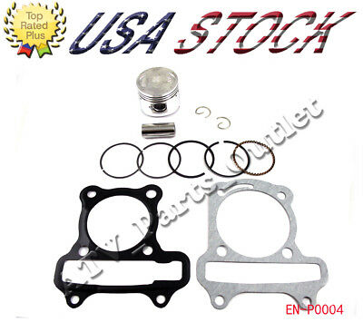 GY6 50cc  Piston ring spring head gasket chinese sunl set moped scooter Engine