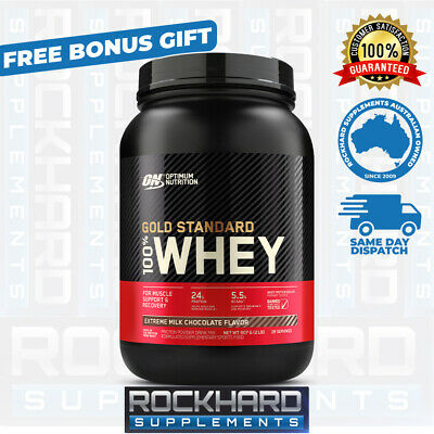 OPTIMUM NUTRITION 100% WHEY GOLD 2LBS 909g GOLD STANDARD PROTEIN WPI WPC
