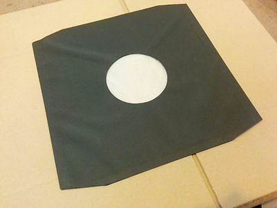 "50 12"" 'black' Polylined Paper Record Sleeves / Covers + Free Del"