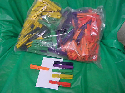 Colored clothespins in 6 colors-bag of 240- 75% off