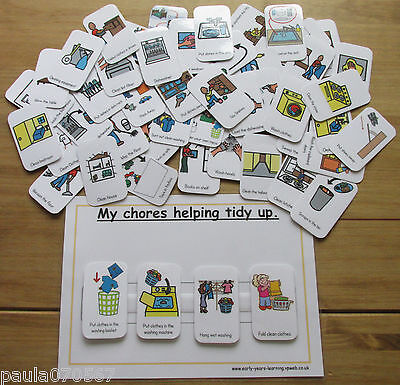 My Chores ? Helping cards with velcro & boards ~ Pecs ~ Autism ~ASD~SEN~Schools~