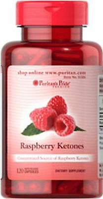 RASPBERRY KETONES 100MG PURITANS  **x120 CAPSULES** Diet/Weight Loss Supplement