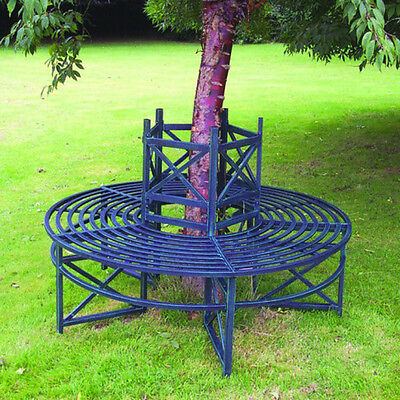 Green Circular Metal Tree Bench by Selections