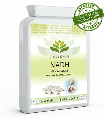 Hellenia NADH 10mg - Energy Supplement - 60 Capsules