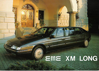 Citroen XM Long Limousine By EME Engineering Original Sales Brochure Early 1990s