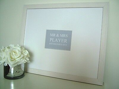 Personalised Wedding Signing Signature Frame Guest Book Alternative Gift