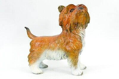 Art Deco Large Size Cute Terrier Bronze Sculpture Hot Cast Pure Figurine Figure