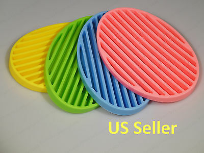 Silicone Soap Dish Holder for Kitchen, Bathroom, Sink, Flexible, Fashion