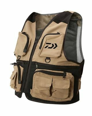 New Daiwa Wading Fishing Waistcoat With 2 Free Daiwa Inview Fly Boxes
