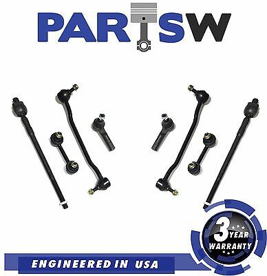 8 Pc Kit Tie Rod Ends Front Sway Bar Links for Nissan Altima Maxima 2Yr Warranty