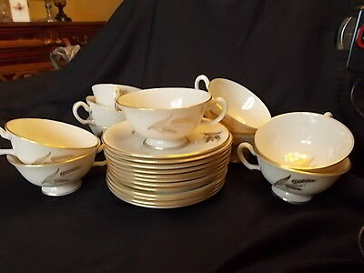 Lenox Fine China Cup and Saucer Harvest Pattern Cream Color Gold Trim Wheat