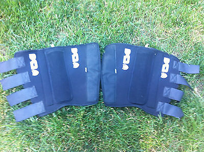 TSG Black Velcro Shin pads For BMX Bike Lightweight Half Size Breathable