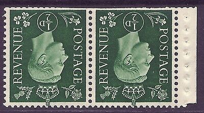 QB3a perf type P - ½d Green Booklet pane UNMOUNTED MINT