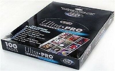 (100) Ultra Pro Premium Platinum 9-Pocket Baseball Trading Card Pages Sports