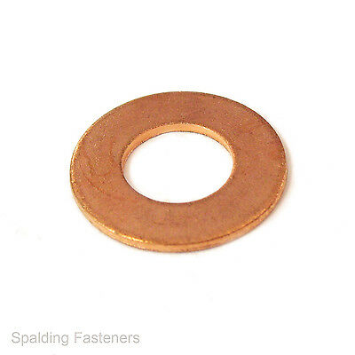 """Metric / Imperial Copper Flat Washers - Sizes M5 (3/16"""") to M12 (1/2"""")"""