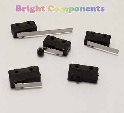 V4 Miniature Microswitch - Various Types - (Micro Switch) - 1st CLASS POST